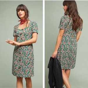 Anthropologie vintage inspired paisley print dress